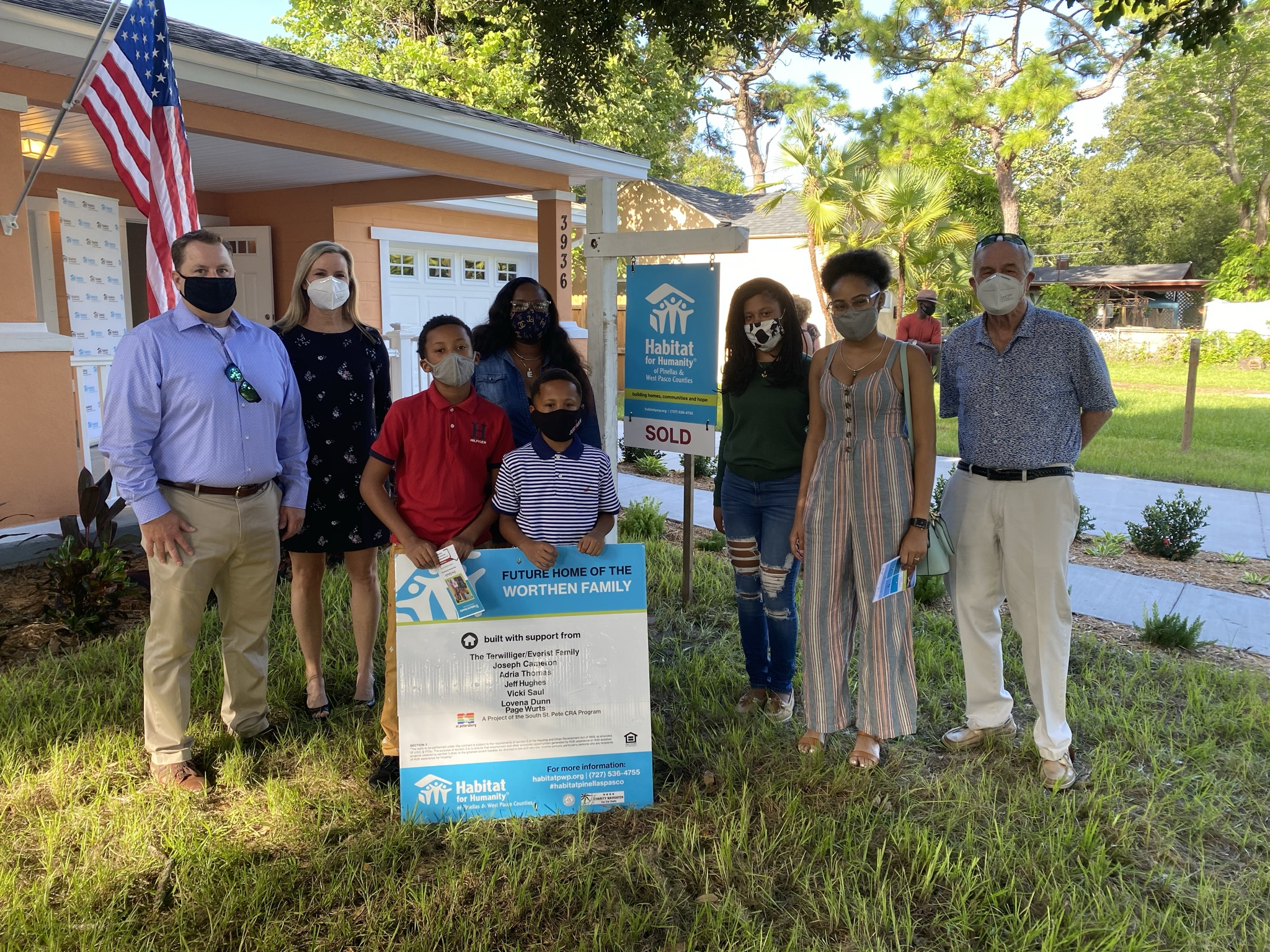 Habitat Home Dedication Celebrates New Homeowner in South St. Pete
