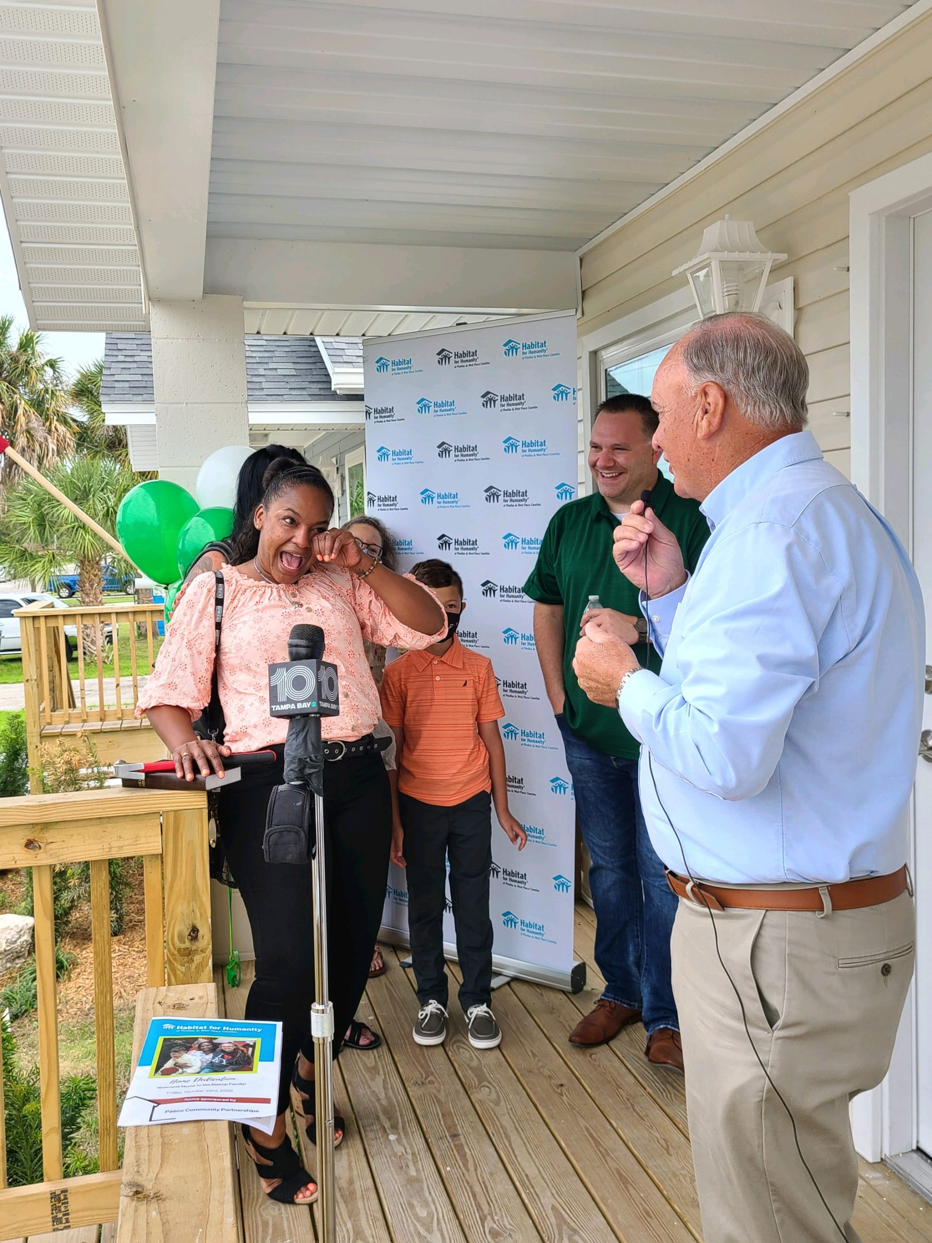 Habitat for Humanity celebrates triple home dedication